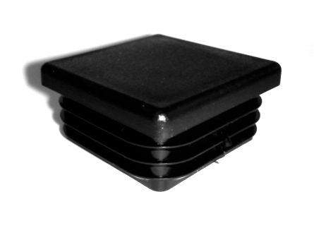 Zátka čtvercová černá 40x40 mm (balení = 4 ks)